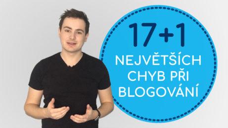 17+1 největších chyb při blogování
