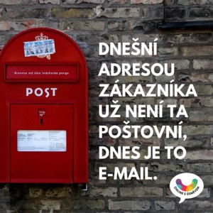 Dnešní adresa zákazníka je e-mail